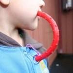 a little boy with a fidget