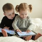 toddlers on ipads