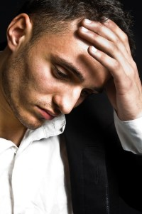 distraught man