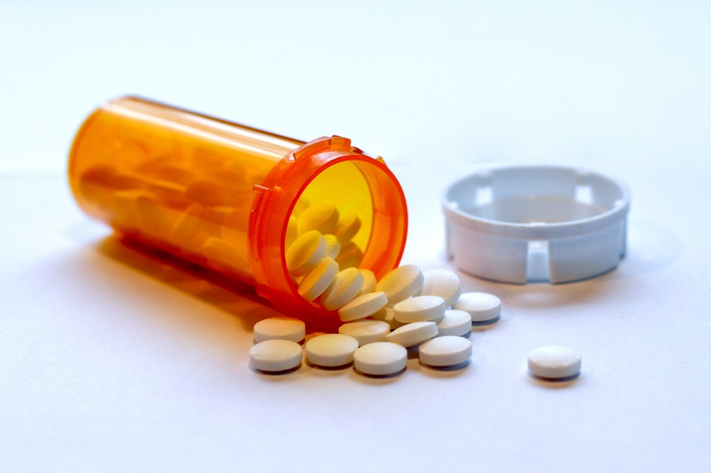 Open Bottle of Prescription Painkillers