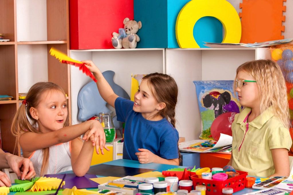 Children's project in kindergarten zone.