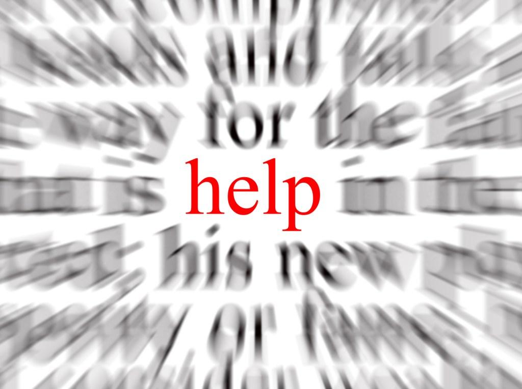 """""""Help"""" word cloud"""