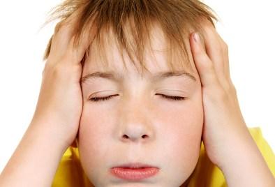 stressed kid.