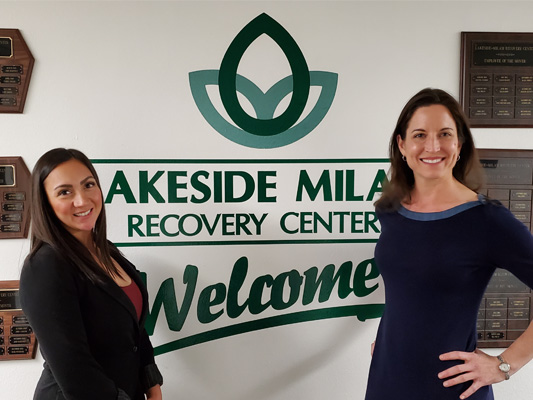 Katheryn Larson (Treatment Director) and Elizabeth Meloeny (Administrator)