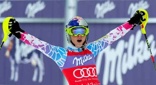 Vonn Wins; Regains World Cup Overall Lead.  Squaw's Julia Mancuso was 15th