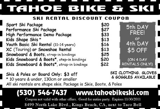 Tahoe Bike & Ski for All Your Rental Needs