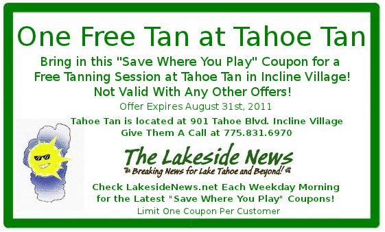 Save Where You Play with a Free Tanning Session