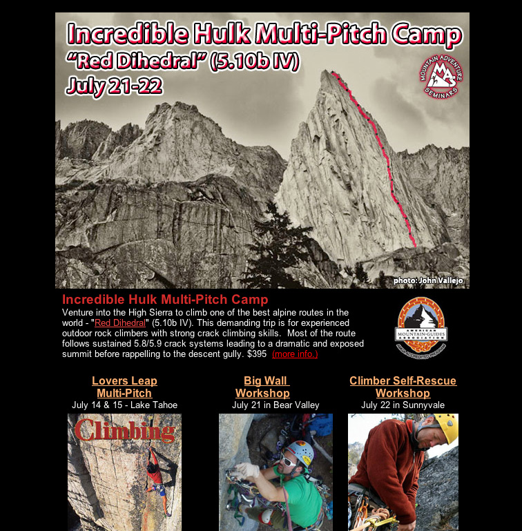 Incredible Hulk Alpine Multi-Pitch Camp