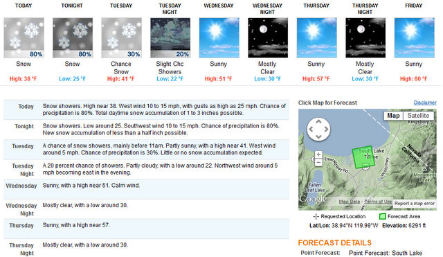 Snow In The Forecast Until Wednesday
