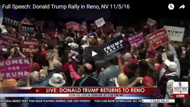 Trump Barnstormed Into Reno Yesterday, Speech Briefly Interrupted By Security Scare