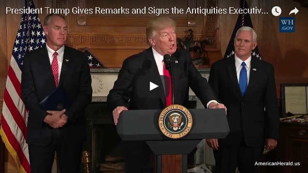 President Trump at Signing of Executive Order on the Antiquities Act