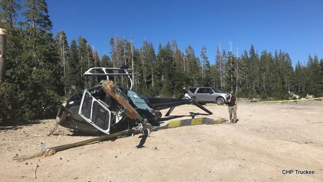 Helicopter Crash Lands Near Soda Springs