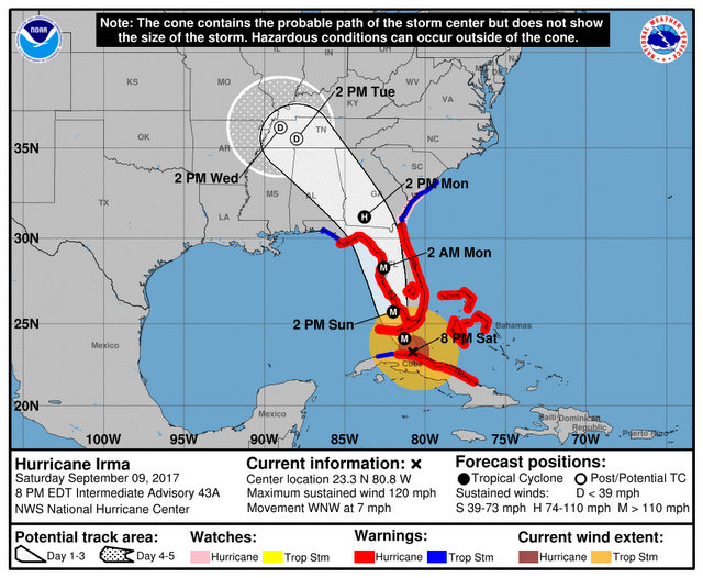 Irma's Wrath Takes Aim at Florida Gulf Coast of as Hurricane Winds Officially Reach the Keys