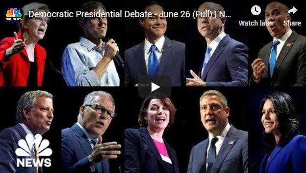 Democratic Presidential Debate – June 26 Full Replay From NBC News