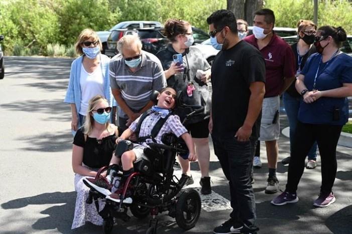 Care-A-Van Surprise Parade For Reno Rodeo Wish Recipient