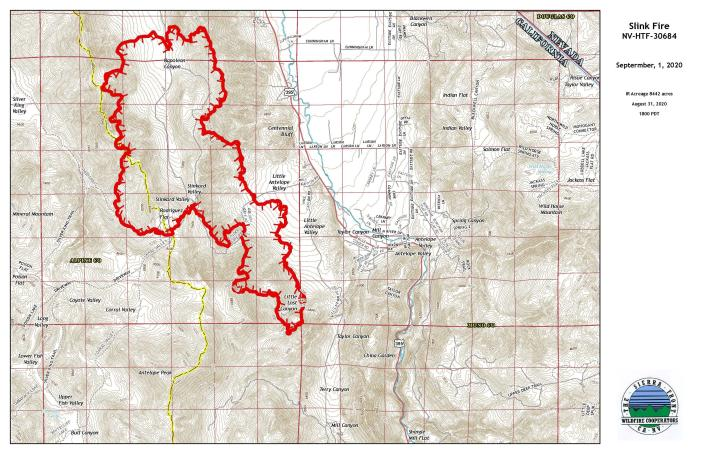 Slink Fire Grows to 11,000 Acres, Evacuations Lifted, Hwy 395 Reopens & Smoke Output Drops
