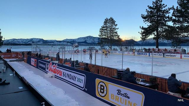 Bruins-Flyers at Sunset Perfect Way to End NHL Outdoors at Lake Tahoe Event