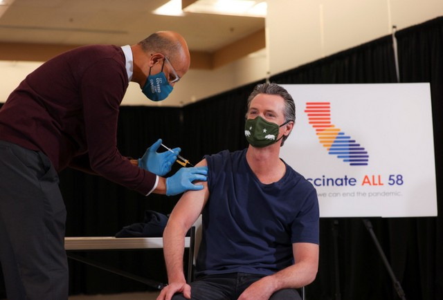 As California Expands COVID-19 Vaccine Eligibility to All Californians 50+, Governor Newsom Receives Vaccine in Los Angeles
