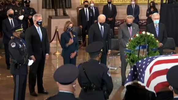 President Biden at a Congressional Tribute for U.S. Capitol Police Officer William Evans