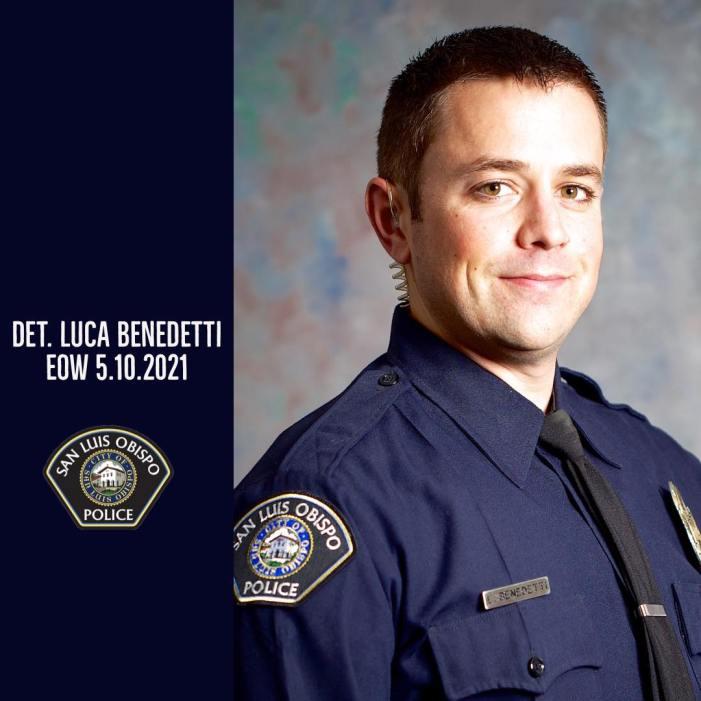San Luis Obispo Police Detective Luca Benedetti Killed While Serving Stolen Property Search Warrant
