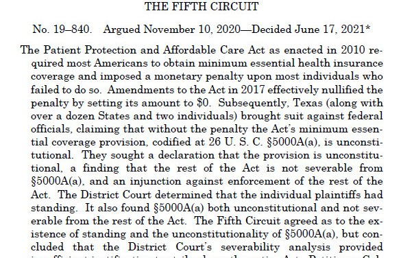 Challenge to Obamacare's Mandate Fails at Supreme Court