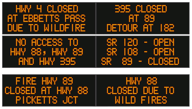 Alpine Co Sheriff Orders Mandatory Evacuations on Hwy 4 from Jct Hwy 89 to Ebbets Pass Due to Tamarack Fire