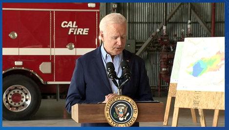 President Joe Biden Visits California for Wildfire Update