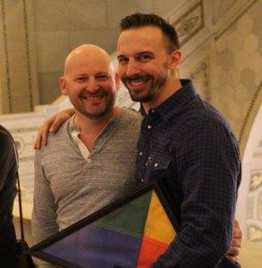 Andrew Favreau with Founders Award