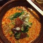 Spicy sesame ramen soup at Komen's 6 Chome-2-8 Jingumae, Shibuya