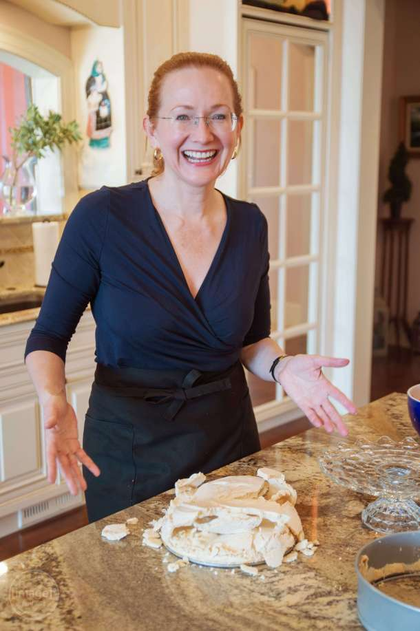 Schaum torte Sugar loaded meringue in a gazillion pieces.