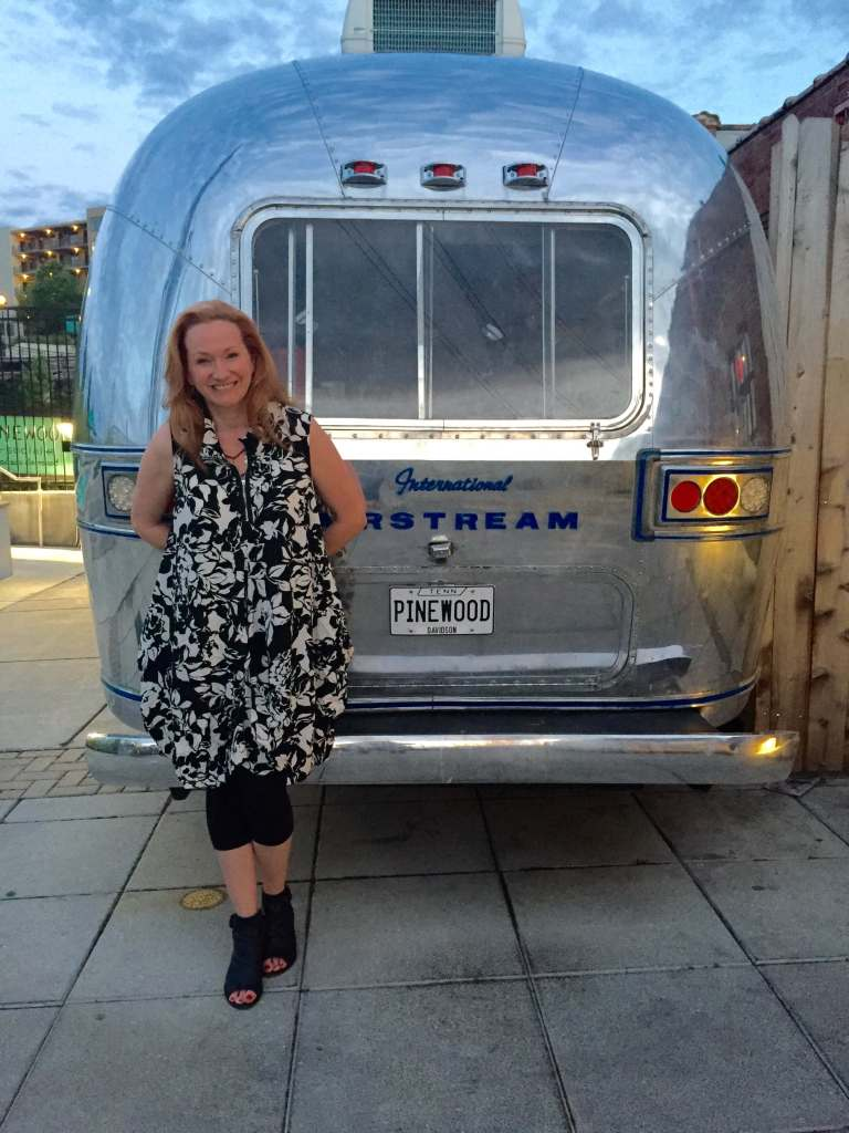 This Airstream camper at Pinewood Social is their outside bar by the pool. It was a little too chilly for it to be open.