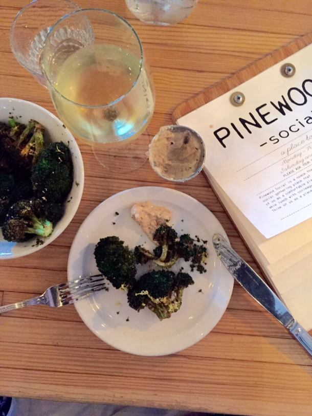Pinewood Social Nashville restaurant review on Lakeside table