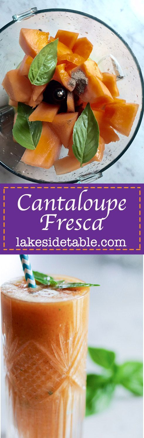 This is such a delightful chilled summer treat! It lets a sweet cantaloupe really show off it's stuff. Serve cold as an appetizer or drink it as a smoothie. Either way, it's divine. | www.lakesidetable.com