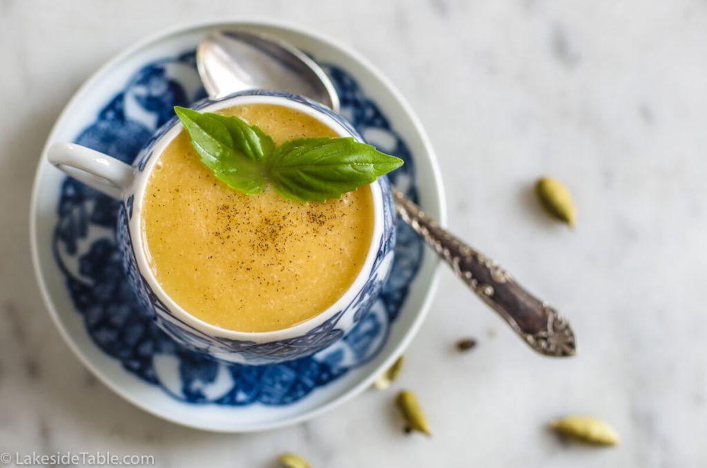 single cantaloupe soup recipe
