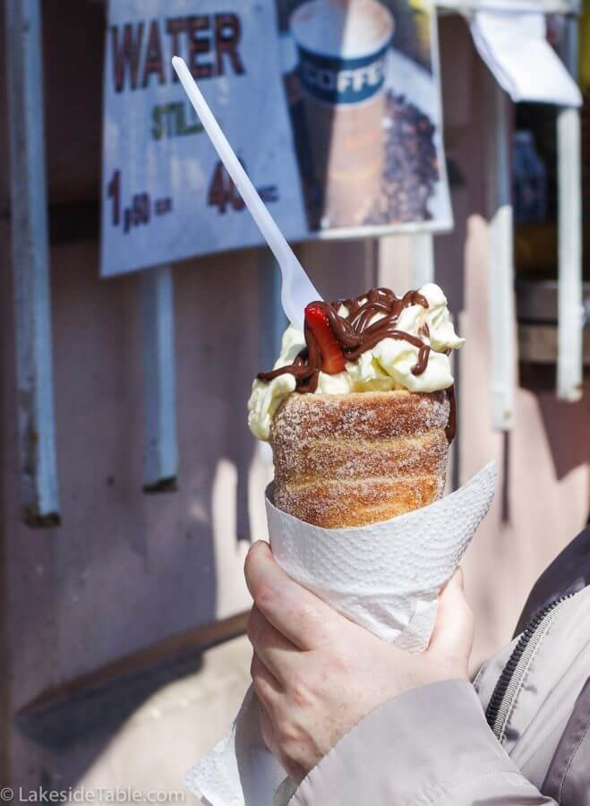 Trdelnik tube pastry with all the goodies