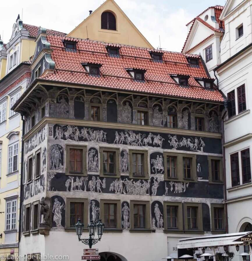 Beautiful fresco in the Old Town of Prague