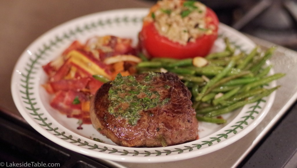 Oven finished steak - herb butter and a golden sear. Amazing and so easy!   www.lakesidetable.com