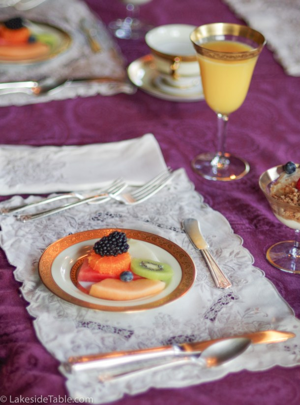 Rockcliffe Mansion breakfast in the dining room | www.lakesidetable.com