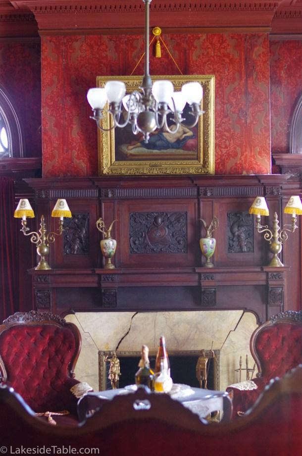 Rockcliffe Mansion B&B smoking room | www.lakesidetable.com