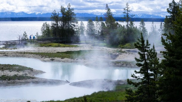 Hot springs of Yellowstone National Park | www.lakesidetable.com