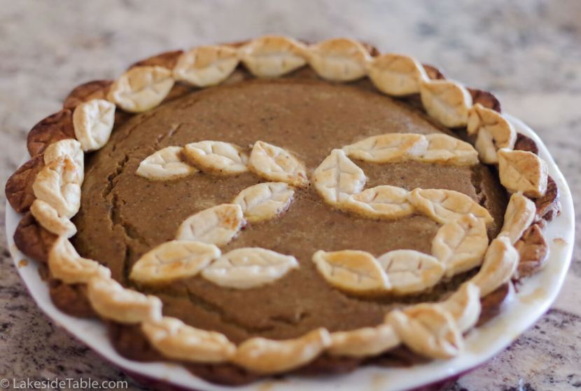 Classic Pumpkin Pie Recipe - Why not have a birthday pie? Jazz it up with crust cut outs and pretty candles! | www.lakesidetable.com