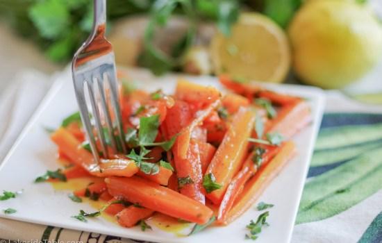 Turmeric Honey Glazed Carrots