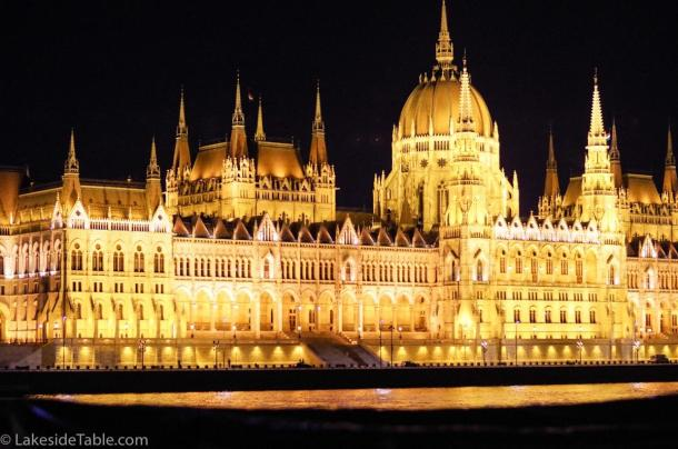 Hungary's parliament on the west bank of the Danube, Budapest | www.lakesidetable.com