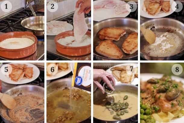 8 easy steps to make turkey piccata