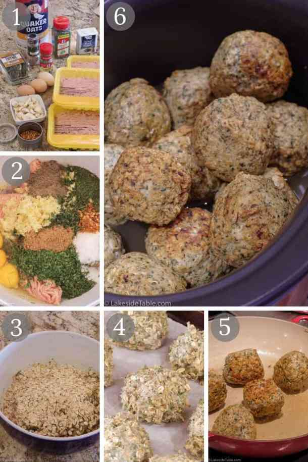These Thai meatballs are inspired by the Firefly Grill's chicken curry meatball appetizer. Great Thai flavors with a touch of heat and coconut curry spices. So good! | www.lakesidetable.com