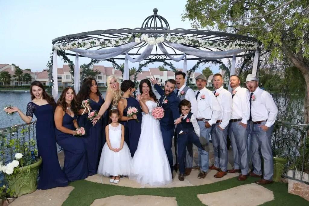 Swan Garden Sapphire All Inclusive Vegas Wedding