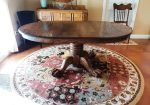 VINTAGE OAK DINING TABLE & CHAIRS - VINTAGE OAK DINING TABLE & CHAIRS