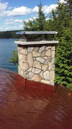 Lakes Region Chimney Pro Chimney Sweep NH -Natural Stone Veneer