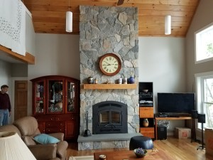 Natural Stone with hearth