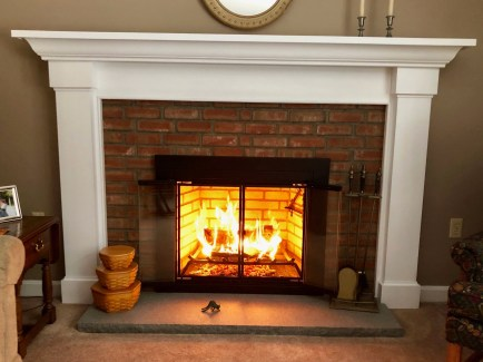 After a complete fireplace makeover inside and out!